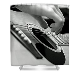 Strum Shower Curtain by Lisa Phillips