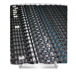Studio Sound Mixing Board Shower Curtain by Mountain Dreams