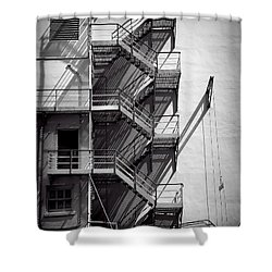 Study Of Lines And Shadows Shower Curtain by Rudy Umans