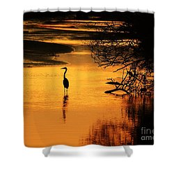 Sublime Silhouette Shower Curtain by Al Powell Photography USA