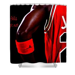 Success Quote 2 Shower Curtain by Brian Reaves