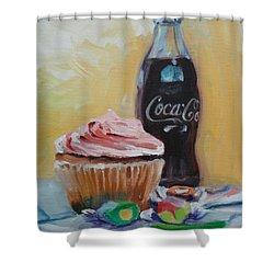 Sugar Overload Shower Curtain by Donna Tuten