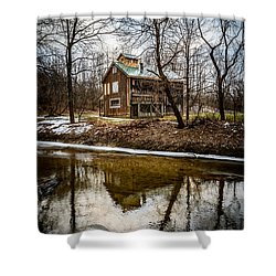 Sugar Shack In Deep River County Park Shower Curtain by Paul Velgos