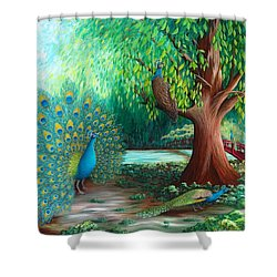 Suitors Shower Curtain by Katherine Young-Beck