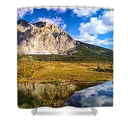 Sukakpak Reflection Shower Curtain by Chad Dutson