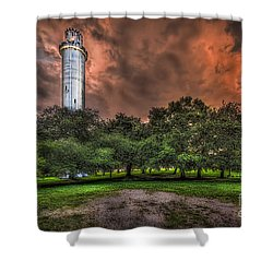 Sulfur Springs Tower Shower Curtain by Marvin Spates