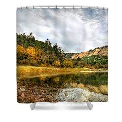 Suluklu Lake Shower Curtain by Leyla Ismet
