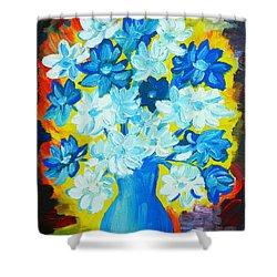 Summer Daisies Shower Curtain by Ramona Matei