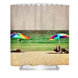 Summer Days At The Beach Shower Curtain by Scott Pellegrin