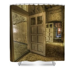 Summer Doors Shower Curtain by Nathan Wright