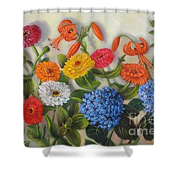Summer Flowers Shower Curtain by Randol Burns