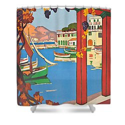 Summer On The Cote D Azur Shower Curtain by Guillaume Georges Roger
