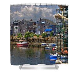 Summer On The Harbor Shower Curtain by Joann Vitali