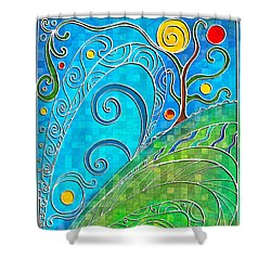 Summer Solstice Shower Curtain by Shawna Rowe