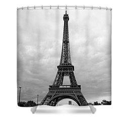 Summer Storm Over The Eiffel Tower Shower Curtain by Carol Groenen