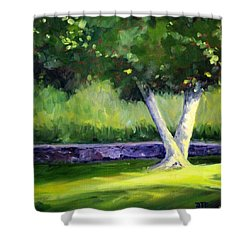 Summer Tree Shower Curtain by Nancy Merkle