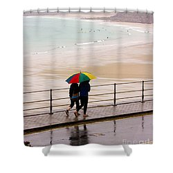 Summertime In England Shower Curtain by Terri Waters