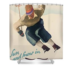 Sun And Snow In Germany Shower Curtain by Nix