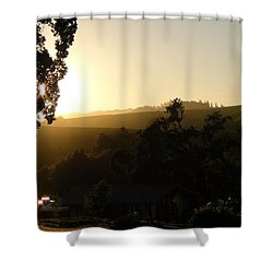 Sun Down Shower Curtain by Shawn Marlow
