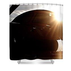 Sun Flare  Shower Curtain by Paul Job