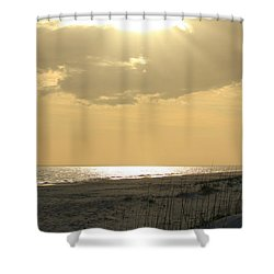 Sun Rays Shower Curtain by Cynthia Guinn