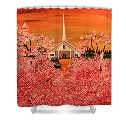 Sunday Morning Shower Curtain by Mark Moore