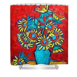 Sunflowers Bouquet Shower Curtain by Ana Maria Edulescu