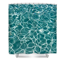 Sunlight Cool Abstract  Shower Curtain by Heidi Smith