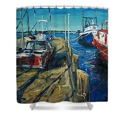 Sunny Pier Shower Curtain by Alexei Biryukoff
