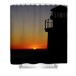 Sunrise Abstract Shower Curtain by Joy Bradley