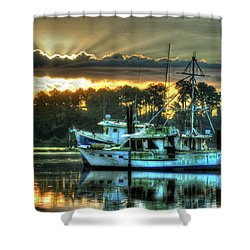 Sunrise At Billy's Shower Curtain by Michael Thomas