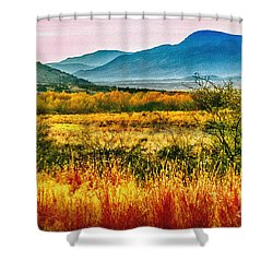 Sunrise In Verde Valley Arizona Shower Curtain by Bob and Nadine Johnston