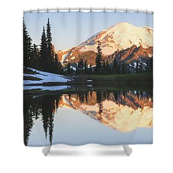 Sunrise Over A Small Reflecting Pond Shower Curtain by Stuart Westmorland