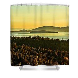 Sunrise Over Bellingham Bay Shower Curtain by Robert Bales