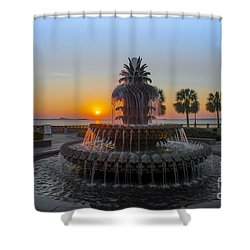 Sunrise Over Charleston Shower Curtain by Dale Powell
