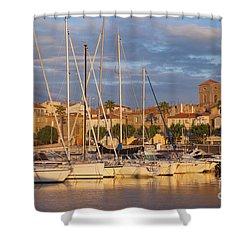 Sunrise Over La Ciotat France Shower Curtain by Brian Jannsen