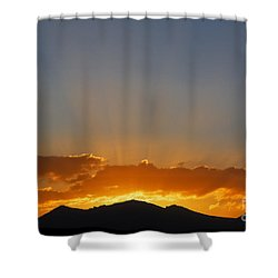 Sunrise Over Mountains Shower Curtain by Robert Preston