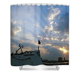 Sunrise Over Philadelphia  Shower Curtain by Shoal Hollingsworth