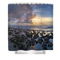 Sunrise Panorama Shower Curtain by Debra and Dave Vanderlaan