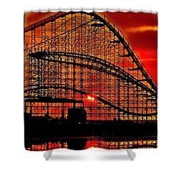 Sunrise Thru The Coaster Shower Curtain by Nick Zelinsky