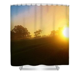 Sunrising Over The Club House Shower Curtain by Daniel Thompson
