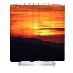Sunset Shower Curtain by Amanda Mohler