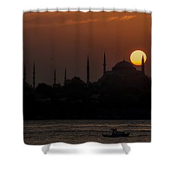 Sunset At Historical Peninsula In Istanbul Shower Curtain by Ayhan Altun