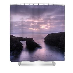 Sunset At Mendocino Shower Curtain by Bob Christopher