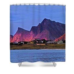 Sunset At Ramberg Shower Curtain by Heiko Koehrer-Wagner