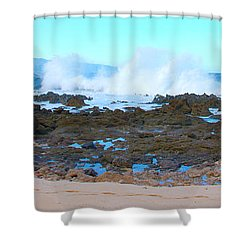 Sunset Beach Crashing Wave - Oahu Hawaii Shower Curtain by Brian Harig