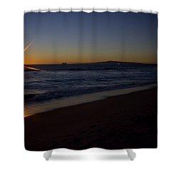 Sunset Beach Shower Curtain by Heidi Smith