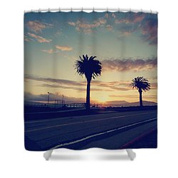 Sunset Drive Shower Curtain by Laurie Search