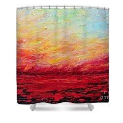 Sunset Fiery Shower Curtain by Teresa Wegrzyn