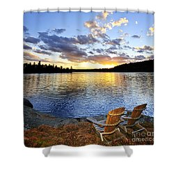 Sunset In Algonquin Park Shower Curtain by Elena Elisseeva